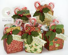 Canning Jar and Holly Treat/Gift Holders – Elizabeth Craft Designs 3d Christmas, Christmas Paper Crafts, Stampin Up Christmas, Christmas Projects, Christmas Wrapping, Handmade Christmas, Christmas Packages, Christmas Videos, Christmas Craft Fair