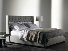 Upholstered double bed THURMAN LOW Thurman Collection by Meridiani