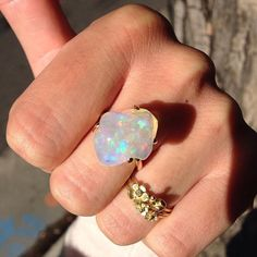 #regram @goldbugpasadena  gives this opal a #thumbsup #Jamiejosephjewelry #mexicanfireopal #beauty #nofilter #wow