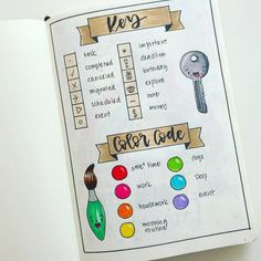Bullet Journal key page is one of the basics of your BuJo. Today were talking about why you need a key page and how to s Bullet Journal Key Page, Bullet Journal 2019, Bullet Journal Tracker, Bullet Journal Notebook, Bullet Journal Junkies, Bullet Journal School, Bullet Journal Layout, Bullet Journal Inspiration, Journal Ideas