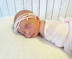 Pearl Tieback Newborn Photo Prop Girls' Hair by CraftsEverywhere