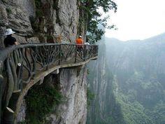 Cliffside Steps, Hunan, China - let's go for a stroll!
