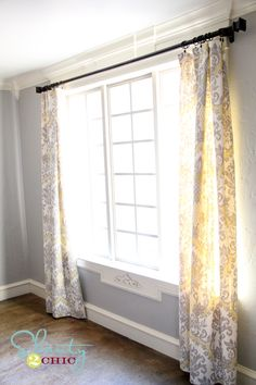 DIY curtain panels and the wall color