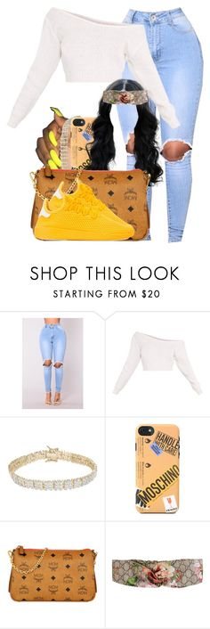 """1109"" by tuhlayjuh ❤ liked on Polyvore featuring Finesque, Moschino, MCM, Gucci and adidas"