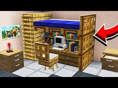 This guy is hella annoying but his builds are really good. Vid covers: Latrice Windows, Working canon, Bunk Bed, Pet house, and Trampoline Minecraft Mods, Easy Minecraft Houses, Minecraft Houses Blueprints, Minecraft Plans, Minecraft House Designs, Minecraft Decorations, Amazing Minecraft, Minecraft Bedroom, Minecraft Tutorial