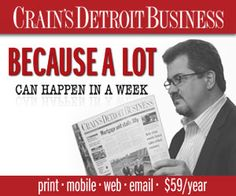 This Week's Issue of Crain's Detroit Business | Crain's Detroit Business (Geographic)