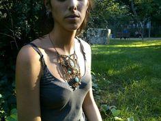 Collar ajustable hecho a mano con especial piedra por NogyanFraktal