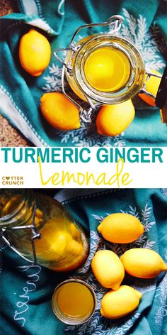Recipe and health benefits of Turmeric Ginger Lemonade! Great for fighting fatigue and reducing inflammation.