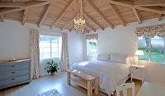 "A bedroom in the ""It's Complicated"" hacienda. Serene."