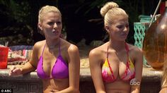 Double trouble: Emily and her twin Haley were trying to find love in paradise
