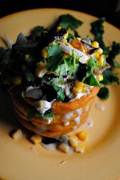 Rajas de Poblano con Elote y Crema ~for sopes,tacos or tostadas #summerfest