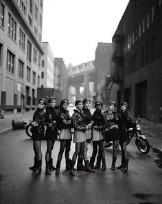 """The 1990s was the decade of the Supermodel-- Cindy Crawford, Tatjana Patitz, Helena Christensen, Linda Evangelista, Claudia Schiffer, Naomi Campbell, Karen Mulder, and Stephanie Seymour. This shot was titled """"The Wild Ones"""" with the original selling at auction a few years ago for close to $35,000 --Image by © Peter Lindbergh"""