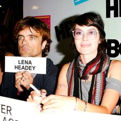 Game of Thrones Cast: Peter Dinklage and Lena Headey. I heart them!