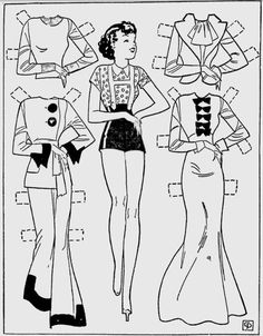 Swanky, Dandy, Trick and Chic: Etta Kett Paper Dolls are All the Rage