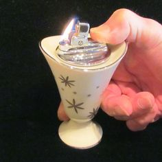 Lenox Ronson Table Lighter 1950s Starburst Design Mid Century Unused Working Lighter