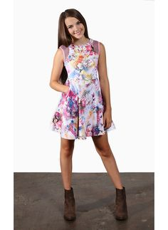 Pink floral Tween Dress from Miss Behave