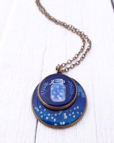 Capture some of the magic of a warm summer night with a firefly-inspired necklace. #etsyjewelry