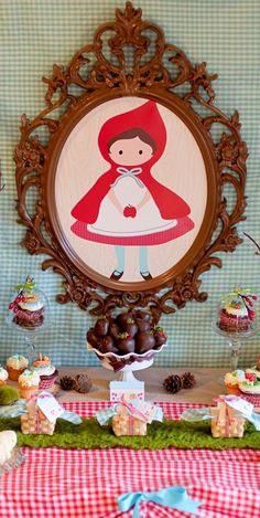 Vintage Little Red Riding Hood Baby Shower