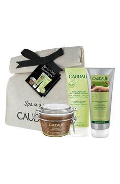 Caudalie 'Vinothérapie Spa in a Bag' Set - with a Crushed Cabernet Scrub, a Fleur de Vigne Shower Gel and a Vine Body Butter.