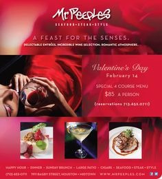 valentine's day 3 course menu