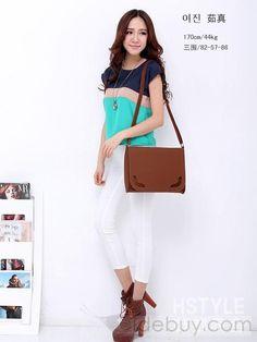 女性夏新着純粋な色糸ショルダーバッグ