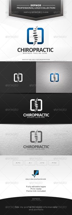 Chiropractic Logo — Transparent PNG #brand #professional • Available here → https://graphicriver.net/item/chiropractic-logo/6768051?ref=pxcr