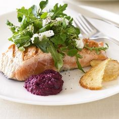 <p>Dinner will again feature lean protein and lots of vegetables. Salmon is ideal since it is full of omega-3 fatty acids and so satisfying but any protein will work. (Including some carbs like sweet potato or squash are a good way to satisfy sweet cravings too!) Good options: </p><ul><li>4-6 oz chicken breast or thigh   sauteed green beans   1 cup sweet potato fries</li><li>4-6 oz salmon filet   roasted asparagus   3/4 cup cubed squash</li><li>4-6 oz seared tofu or tempeh   kale salad   ...