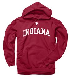 Indiana Hoosiers Icon Arch Hooded Sweatshirt - Crimson - Campus Colors #indianahoosiers