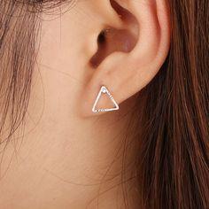 New Arrival Women Triangle Earrings Punk Jewelry Stud Earrings for Women