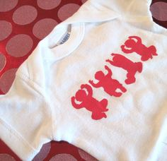 OHIO Babies- White and Red Ohio State Baby Onesie  Newborn, 6 months, 12 months and 18 months