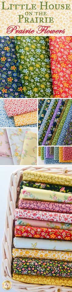 Little House On The Prairie - Prairie Flowers by Kathy Hall for Andover Fabrics is a floral fabric collection available at Shabby Fabrics