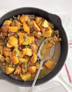 Curried Pumpkin & Peas