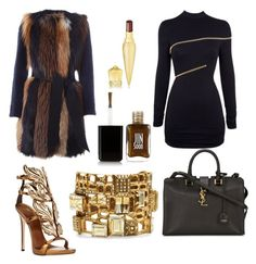 """Untitled #48"" by perceptionandco on Polyvore featuring BLANCHA, Agent Provocateur, Giuseppe Zanotti, Christian Louboutin, Yves Saint Laurent, Oscar de la Renta and JINsoon"