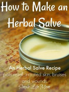Herbal Salve Recipe – How to Make Natural Salves Learn how to make natural herbal salves for all types of skin, muscle and joint remedies. A herbal salve recipe included and herbs to get you started in natural herbal remedy care. Natural Headache Remedies, Natural Home Remedies, Natural Healing, Natural Skin, Natural Foods, Holistic Remedies, Herbal Remedies, Health Remedies, Cold Remedies
