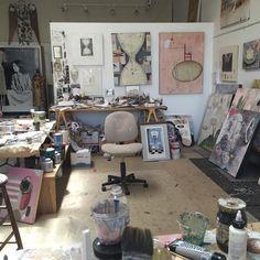 Where the magic happens my studio. Alexandra Eldridge, Santa Fe.  #artistsoninstagram