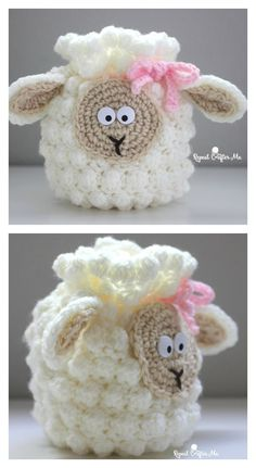 Crochet Sheep Drawstring Bag Free Pattern