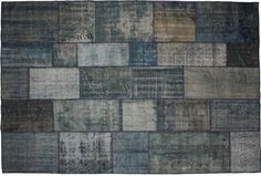 retro carpeting and flooring | Vintage Carpets Treated With Patchwork Technique