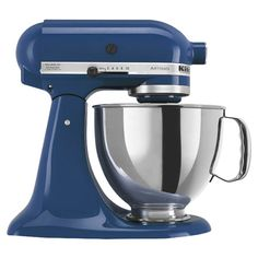 KitchenAid Stand Mixer in Blue Willow.  This is the color blue I want to use in my kitchen
