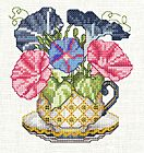 12 different teacup flowers by vsccs Crewel Embroidery, Cross Stitch Embroidery, Cross Stitch Patterns, Teacup Flowers, Cross Stitch Freebies, Cross Stitch Flowers, Needlepoint, Needlework, Knitting