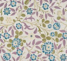 Love this tropical floral multi-color leaves pattern in Meadowfield Plum! It's a perfect mix of green, blue and lavender for The New York Botanical Garden Collection by Vervain Traditional Design, Botanical Gardens, Plum, Lavender, Fabrics, Tropical, Textiles, Leaves, York