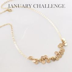 January challenge Two By Two, January, Gold Necklace, Challenges, Detail, Box, Jewelry, Jewellery Making, Snare Drum