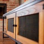 Szafka RTV APRIL-industrialna komoda z metalu i drewna Metal, Bedroom Closets, Yurts, Furniture, Metals