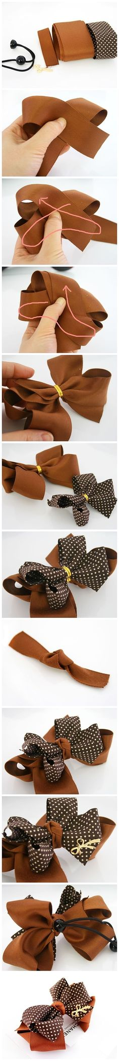 DIY Chanel Inspired Bow bows diy crafts home made easy crafts craft idea crafts ideas diy ideas diy crafts diy idea do it yourself diy projects diy craft handmade hair bows