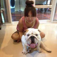 """Sumo's nanny!!! ✌️❤️"" Photo taken by @sumo_the_bulldog on Instagram, pinned via the InstaPin iOS App! http://www.instapinapp.com (04/16/2015)"