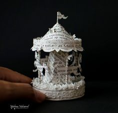 Miniature Carousel Merry Go Round Paper Art Miniature
