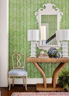 NATURAL ELEMENTS — LW Zig Zag Wallpaper, Trendy Wallpaper, White Wallpaper, Home Decor Bedroom, Living Room Decor, Diy Home Decor, Dining Room, Modern Interior, Interior Design