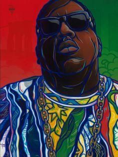 """One More Chance"" – ICONS Series – The Notorious BIG Painting 30"" x 40"" Oil On Canvas ©2014 Timothy Watters"