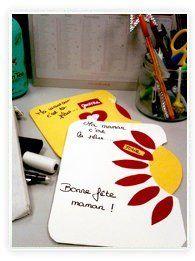 bricolage enfants - carte bouquet de fleurs