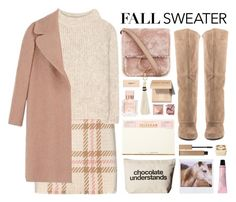 """Fall Sweater: Natural Blush"" by cara-mia-mon-cher ❤ liked on Polyvore featuring MARC CAIN, Tom Ford, Brother Vellies, Jessica Simpson, Rochas, Maison Francis Kurkdjian, Dogeared, Bobbi Brown Cosmetics, Surratt and Clinique"