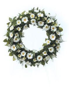 daisy flower arrangement centerpieces | ... contrast to the snowy white daisies in this pedestal arrangement
